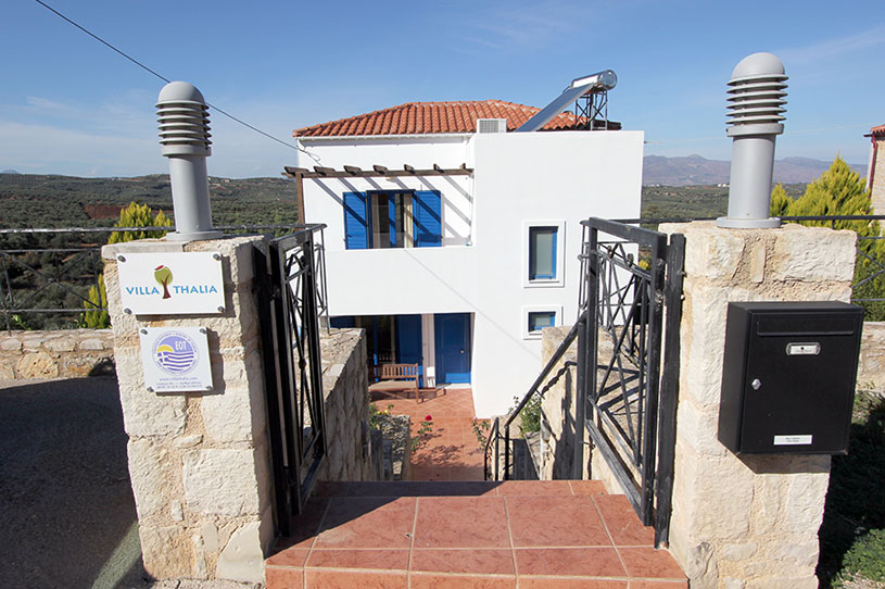 Entrance to the Villa Thalia vacation rental in Crete, Greece