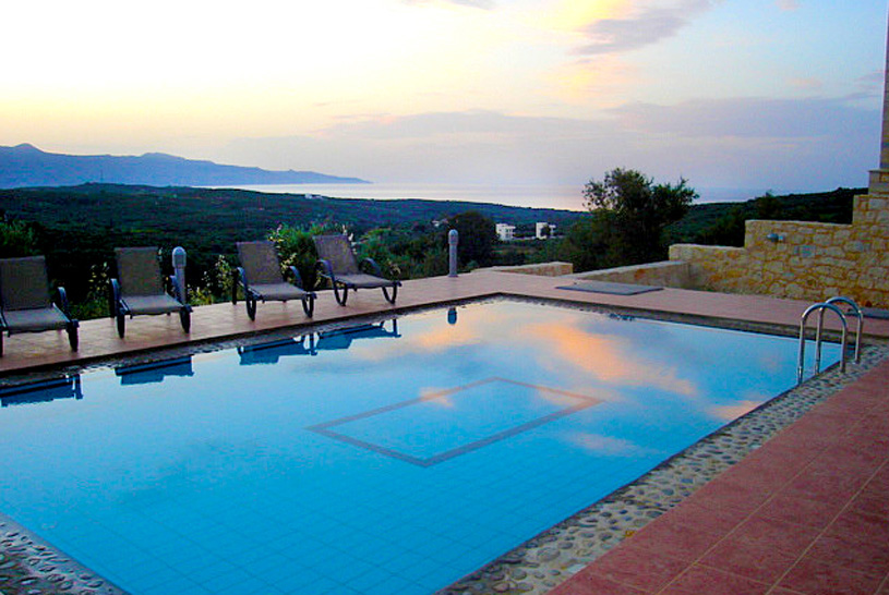 Villa Thalia pool & view